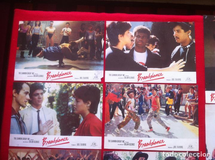 10 FOTOCROMOS BREAKDANCE LOBBY CARD (Cine - Fotos, Fotocromos y Postales de Películas)