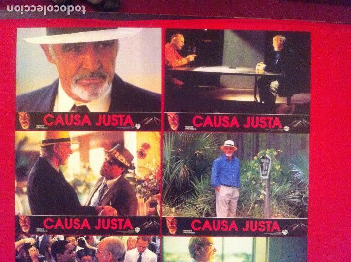 8 FOTOCROMOS CAUSA JUSTA LOBBY CARD ¡¡¡ARTICULO COMPRA MINIMA 8 EUROS!!! (Cine - Fotos, Fotocromos y Postales de Películas)