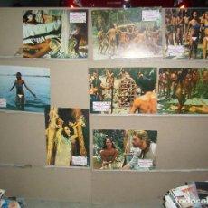 Cine: EMANUELLE Y LOS ULTIMOS CANIBALES LAURA GEMSER 8 FOTOCROMOS ORIGINALES B(981). Lote 84264436