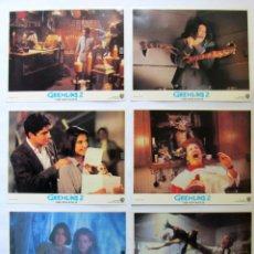 Cine: GREMLINS 2. 6 FOTOCROMOS ORIGINALES DE LA PELICULA. 35 X 28 CMS. USA. JOE DANTE 1990. Lote 86693532
