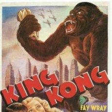 Cine: TARJETA POSTAL CINE - KING KONG. Lote 87590976