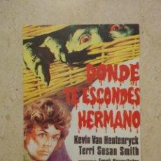 Cine: TARJETA PAPEL 10*15 - DONDE TE ESCONDES HERMANO - ALBUM - TERROR - BASKET CASE. Lote 88081688