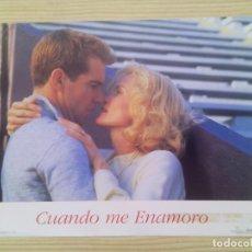 Cine: 2 FOTOCROMOS - LOBBY CARD - CUANDO ME ENAMORO. Lote 88336324