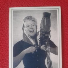 Cine: POSTAL POST CARD THE NOSTALGIA POSTCARD VINTAGE 1950 GRACIE FIELDS IN EN RADIO LUXEMBOURG LUXEMBURGO. Lote 88779456