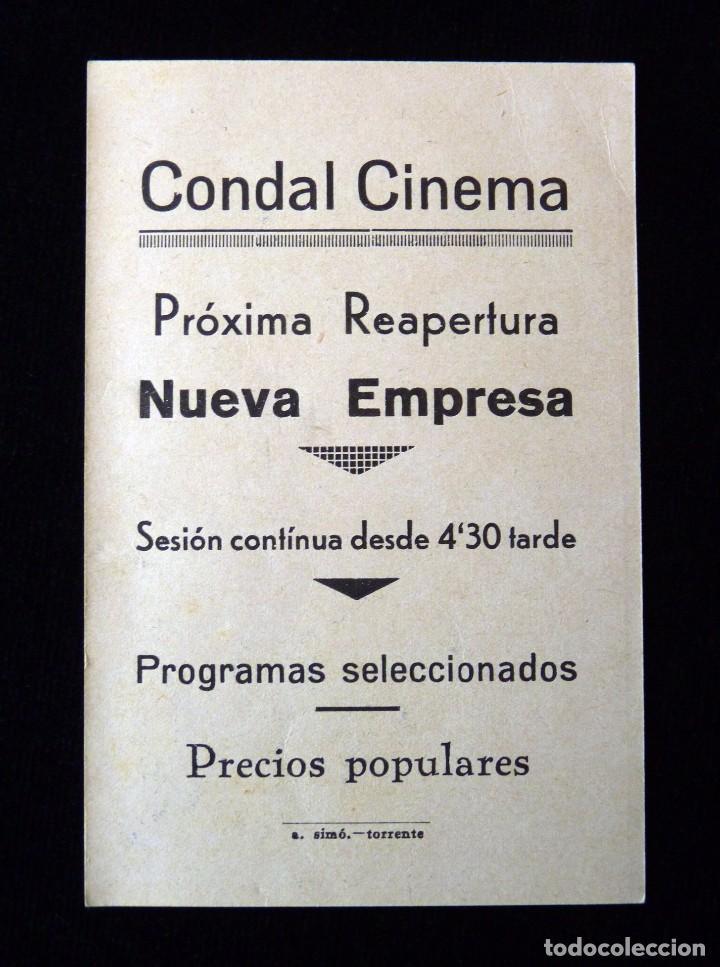 Cine: ANTIGUA PUBLICIDAD CONDAL CINEMA. REGINAL DENNY. AÑOS 40 (PROVINCIA VALENCIA) - Foto 2 - 89883992