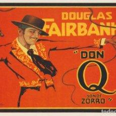 Cine: GEORGE E. HOLL - POSTAL DON Q, SON OF ZORRO - DOUGLAS FAIRBANKS - EDICIÓN USA. Lote 90843650