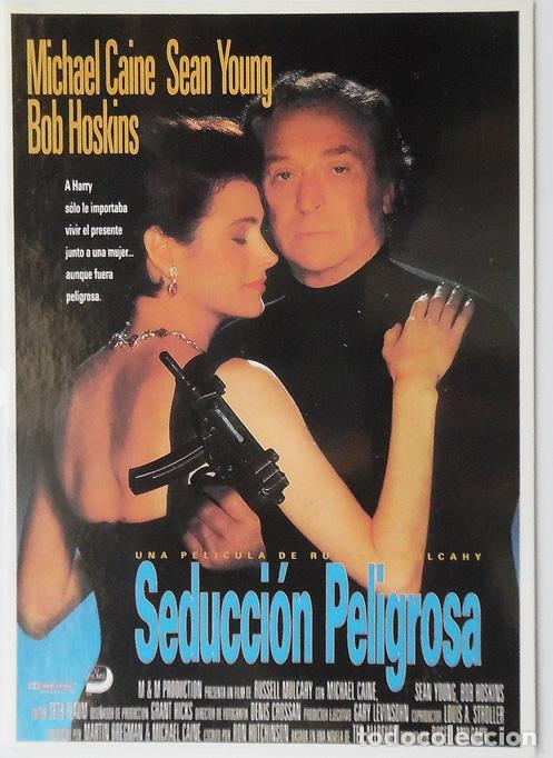 POSTAL CINE PELICULA SEDUCCION PELIGROSA CON MICHAEL CAINE, SEAN YOUNG Y BOB HOSKINS (Cine - Fotos, Fotocromos y Postales de Películas)