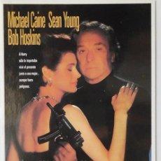 Cine: POSTAL CINE PELICULA SEDUCCION PELIGROSA CON MICHAEL CAINE, SEAN YOUNG Y BOB HOSKINS. Lote 90882875