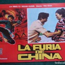 Cine: FOTOGRAMA O FOTOCROMO DE LA PELÍCULA LA FURIA DE CHINA. Lote 91889865