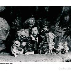 Cine: 4 FOTOGRAFÍAS DE JIM HENSON Y LOS PERSONAJES DE FRAGGLE ROCK - 1984 LOS FRAGUEL. Lote 92200040