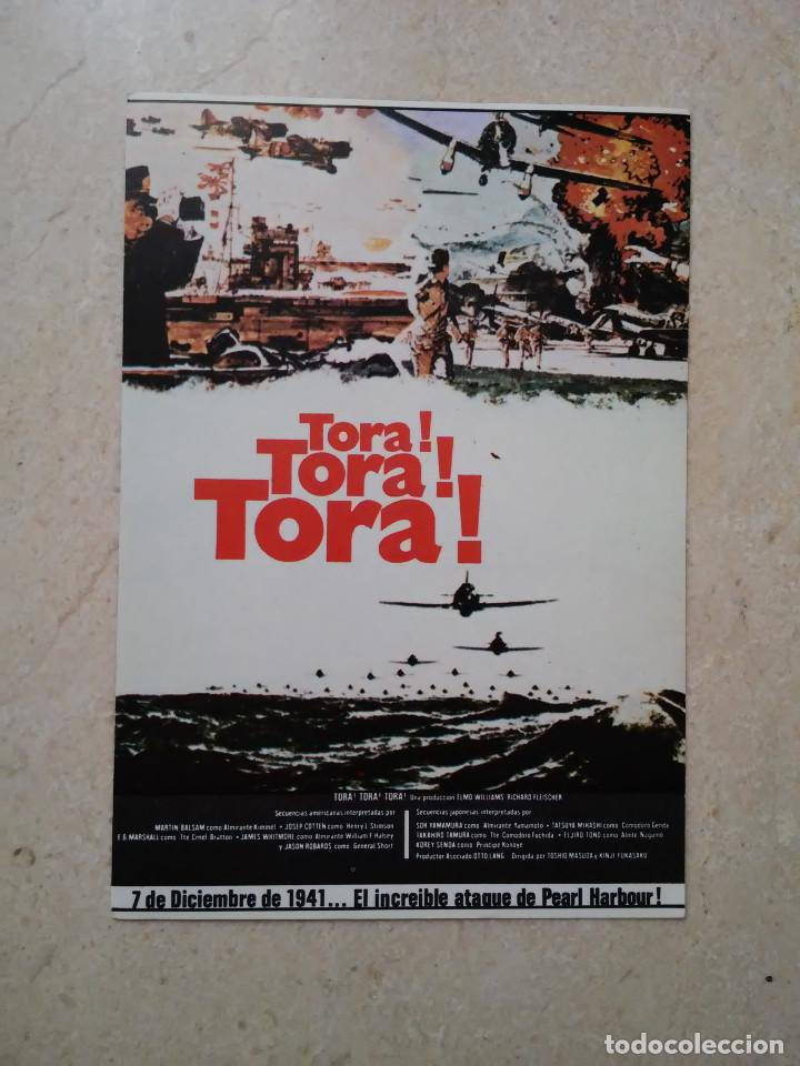 TARJETA PAPEL -10*15- TORA TORA TORA - GUERRA - MARTIN BALSAM (Cine - Fotos, Fotocromos y Postales de Películas)