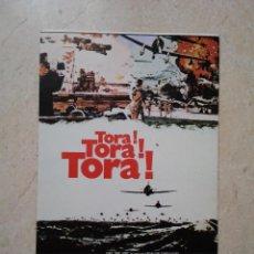Cine: TARJETA PAPEL -10*15- TORA TORA TORA - GUERRA - MARTIN BALSAM. Lote 92291660