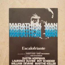 Cine: TARJETA ORIGINAL -10*15- MARATHON MAN - DUSTIN HOFFMAN. Lote 92759115