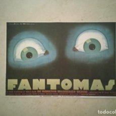 Cine: TARJETA PAPEL -10*15- FANTOMAS - ALBUM - TERROR. Lote 93052965