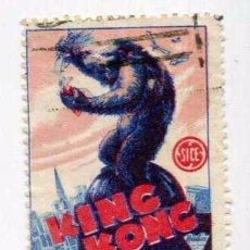 Cine: KING KONG, CON FAY WRAY. SELLO.. Lote 93587135