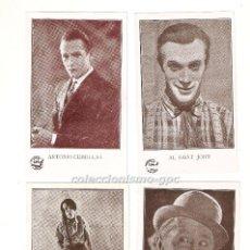 Cine: BUEN LOTE 22 CROMOS ACTORES / ACTRICES DEL CINE MUDO PELICULAS AÑOS 1920S EDITORIAL PIÑOL RAROS MIRA. Lote 93680815