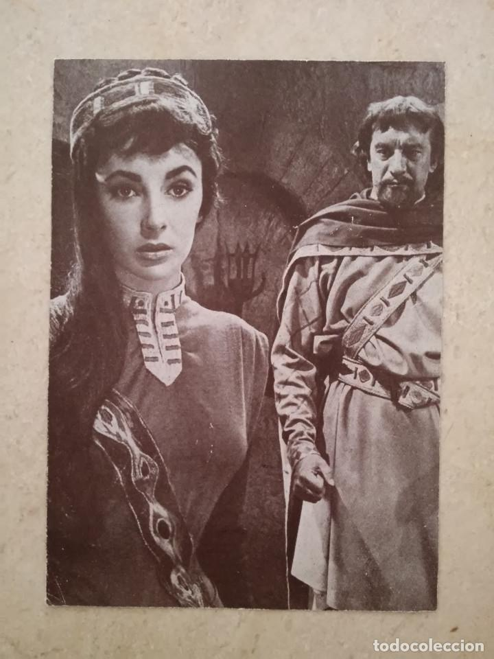 TARJETA PAPEL -10*15- ELIZABETH TAYLOR - ALBUM - IVANHOE (Cine - Fotos y Postales de Actores y Actrices)