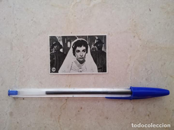 ANTIGUO CROMO - ELIZABETH TAYLOR - ALBUM - IVANHOE - NUMERO 134 (Cine - Fotos y Postales de Actores y Actrices)
