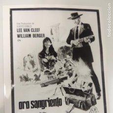 Cine: ORO SANGRIENTO - FOTO B/N ORIGINAL - SABATA LEE VAN CLEEF WILLIAM BERGER LINDA VERAS. Lote 93787555