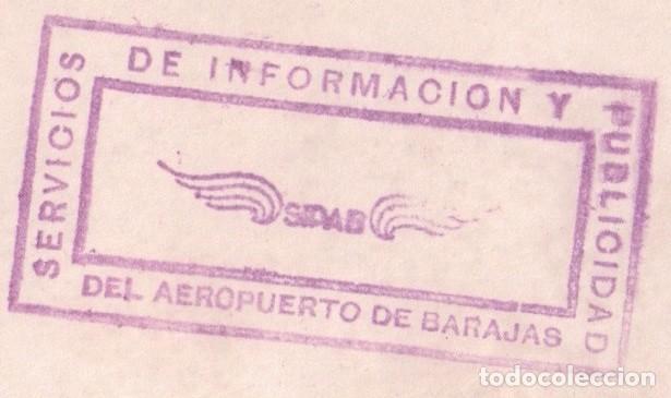Cine: FOTOGRAFIA DEL ACTOR PAUL NEWMAN EN EL AEROPUERTO DE BARAJAS MADRID - SELLO SERV AEROPUERTO - Foto 3 - 94928379