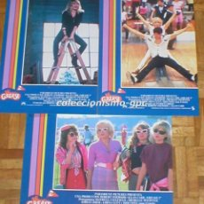 Cine: LOTE 3 FOTOCROMOS GREASE 2 MICHELLE PFEIFFER LORNA LUFT DIDI CONN SPAIN SPANISH LOBBY CARDS SET X 3. Lote 95066667