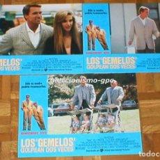 Cine: LOTE 3 FOTOCROMOS LOS GEMELOS GOLPEAN 2 VECES TWINS ARNOLD SCHWARZENEGGER DANNY DEVITO LOBBY CARDSX3. Lote 95067947