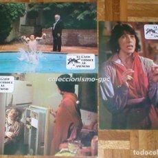 Cine: LOTE 3 FOTOCROMOS EL GATO CONOCE AL ASESINO 1977 LILI TOMLIN ART CARNEY SPAIN LOBBY CARDS X 3. Lote 95069667