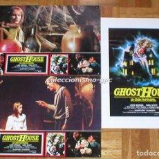 Cine: LOTE 3 FOTOCROMOS GHOST HOUSE 1988 LA CASA FANTASMA EVIL DEAD 3 TERROR HORROR SPAIN LOBBY CARDS X 3. Lote 95071647
