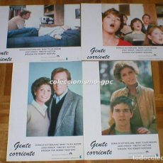 Cine: LOTE 4 FOTOCROMOS GENTE CORRIENTE 1980 ORDINARY PEOPLE MARY TYLER MOORE TIMOTHY HUTTON LOBBY CARDSX4. Lote 95076815