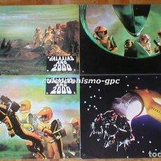 Cine: LOTE 4 FOTOCROMOS 1977 GALAXIAS AÑO 2000 WAKUSEI DAISENSO CIENCIA FICCIÓN JAPON LOBBY CARDS X 4 RARO. Lote 95080415