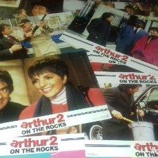 Cine: FOTOCROMOS ORIGINALES- ARTHUR 2 ON THE ROCK 1988 - DUDLEY MOORE, LIZA MINNELLI - JUEGO COMPLETO. Lote 95102419