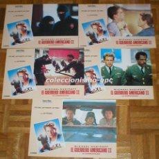 Cine: LOTE 5 FOTOCROMOS 1987 EL GUERRERO AMERICANO II MICHAEL DUDIKOFF AMERICAN NINJA 2 ARTES MARCIALES. Lote 95117375