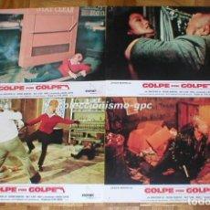 Cine: LOTE 7 FOTOCROMOS 1981 GOLPE POR GOLPE CHUCK NORRIS AN EYE FOR AN EYE SPAIN LOBBY CARDS SET X 7. Lote 95123467