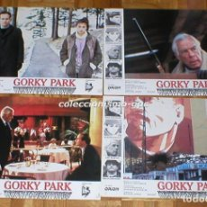 Cine: LOTE 7 FOTOCROMOS 1983 GORKY PARK WILLAIM HURT LEE MARVIN BRIAN DENNEHY SPAIN LOBBY CARDS SET X 7. Lote 95136171