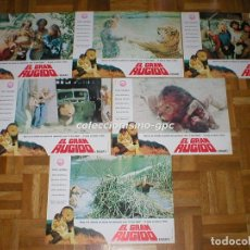 Cine: LOTE 11 FOTOCROMOS 1981 EL GRAN RUGIDO ROAR TIPI HEDREN MELANIE GRIFFITH SPAIN LOBBY CARDS SET X 11. Lote 95139899