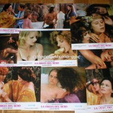 Cine: LOTE 10 FOTOCROMOS 1975 LA ORGIA DEL SEXO EROTICA LUCIA BOSE MAURICE RONET SPAIN LOBBY CARDS SET X10. Lote 95141603