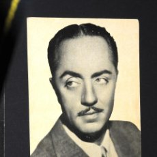 Cine: FOTO - CROMO SERIE A Nº12 WILLIAM POWELL - FOT. PARAMOUNT. Lote 95888467