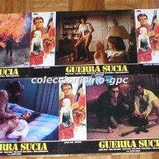 Cine: LOTE 5 FOTOCROMOS ORIGINAL 1984 GUERRA SUCIA JUAN PIQUER SIMON ALFRED KASADO SPAIN LOBBY CARDS SETX5. Lote 96171319