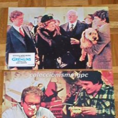 Cine: LOTE 2 FOTOCROMOS ORIGINAL 1984 GREMLINS ZACH GALLIGAN JUDGE REINHOLD SPAIN LOBBY CARDS SET X 2 RARO. Lote 96174259