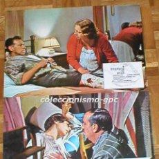 Cine: LOTE 2 FOTOCROMOS ORIGINAL 1977 GUSANOS DE SEDA ANTONIO FERRANDIS ESPERANZA ROY LOBBY CARDS SET X 2. Lote 96176823