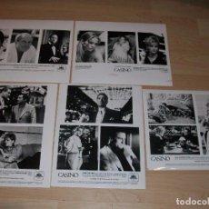 Cine: CASINO. SCORSESE. DE NIRO. KIT DE PRENSA CON 5 FOTOS Y 2 FOLLETOS DE INFORMACIÓN. 1995. NUEVO.. Lote 96552275