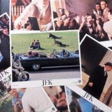 Cine: JFK KEVIN COSTNER OLIVER STONE 1991 SET 8 FOTOCROMOS ORIGINAL USA 28X35,5 CMS. NUEVOS. Lote 97369579