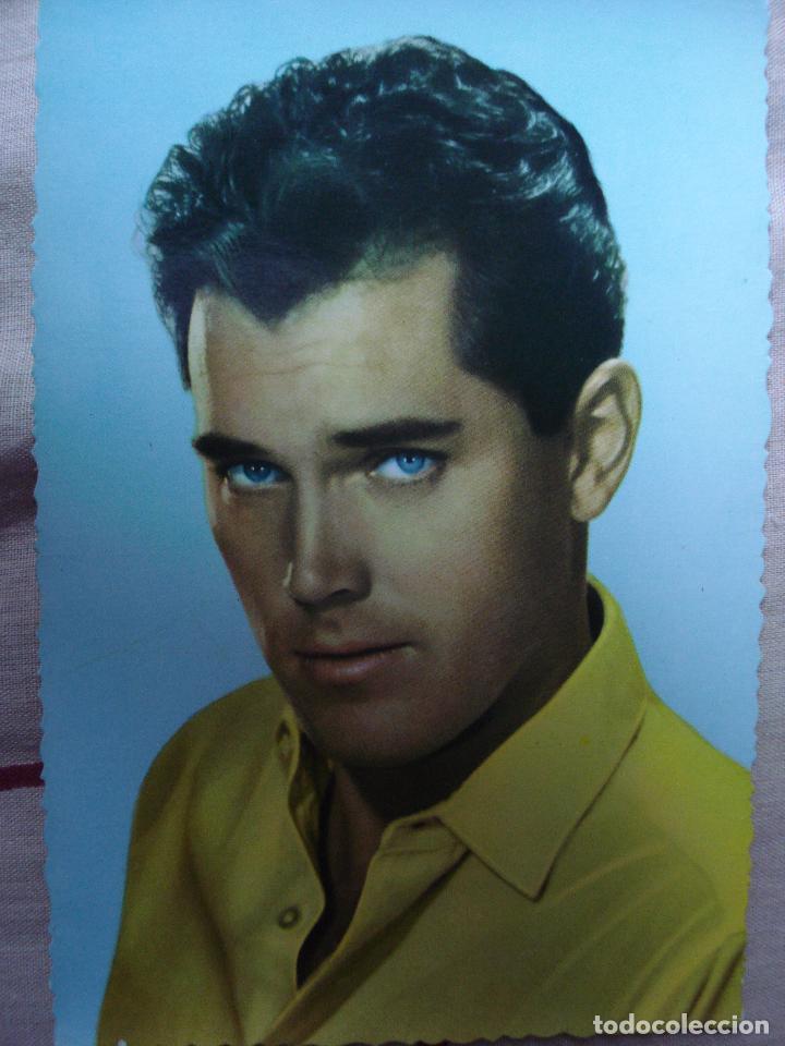 POSTAL DE JEFREY HUNTER 1962 (Cine - Fotos y Postales de Actores y Actrices)