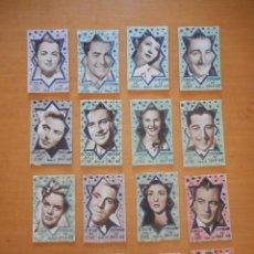 Cine: ESTRELLAS DEL CINE. TEMPORADA 1947-48. SON 16 SERIES CON 5 FOTO POSTAL CADA UNA Y GUÍA DE PELÍCULAS. Lote 97628559