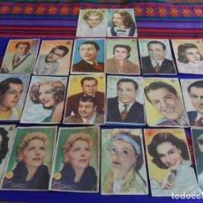Cine: ENTRA Y MIRA. LOTE 27 FOTO POSTAL ACTOR ACTORES Y ACTRIZ ACTRICES AÑOS 50 CON FIRMAS.. Lote 97679795