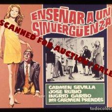Cine: CARMEN SEVILLA. TRANSPARENCIA PROFESIONAL 'ENSEÑAR A UN SIRVERGUENZA', 7,5 X 6 CMS. . Lote 98315211