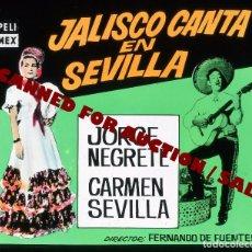 Cine: CARMEN SEVILLA. TRANSPARENCIA PROFESIONAL 'JALISCO CANTA EN SEVILLA', 7,5 X 6 CMS. . Lote 98316239