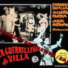 Cine: CARMEN SEVILLA. TRANSPARENCIA PROFESIONAL 'LA GUERRILLERA DE VILLA', 7,5 X 6 CMS. . Lote 98317263