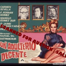 Cine: CARMEN SEVILLA. TRANSPARENCIA PROFESIONAL 'UN ADULTERIO DECENTE', 7,5 X 6 CMS. . Lote 98327551