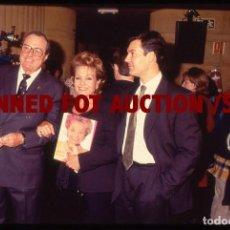Cine: CARMEN SEVILLA CON SU MARIDO V.PATUEL Y SU HIJO. DIAPOSITIVA ORIGINAL, 1997.. Lote 98334827